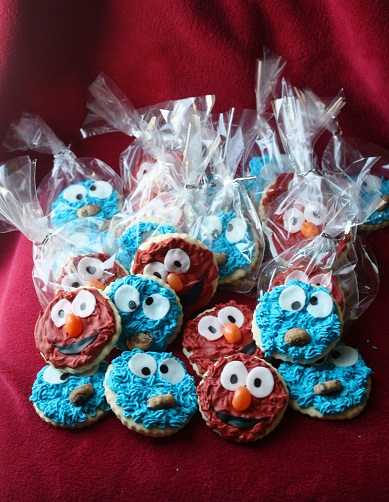 ... elmo cookie monster edible birthday cake elmo and cookie monster cake