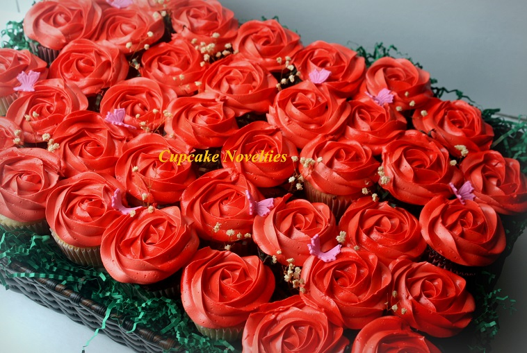 Red Roses Cupcake Bouquet