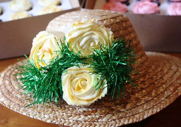 Mother's Day Cupcake Hat arrangement