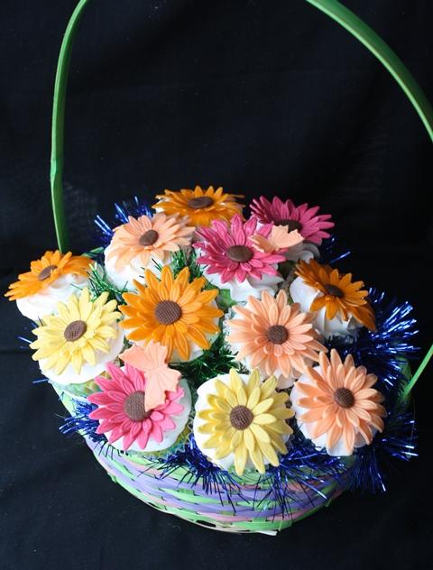 Gerber Daisies Cupcake Bouquet
