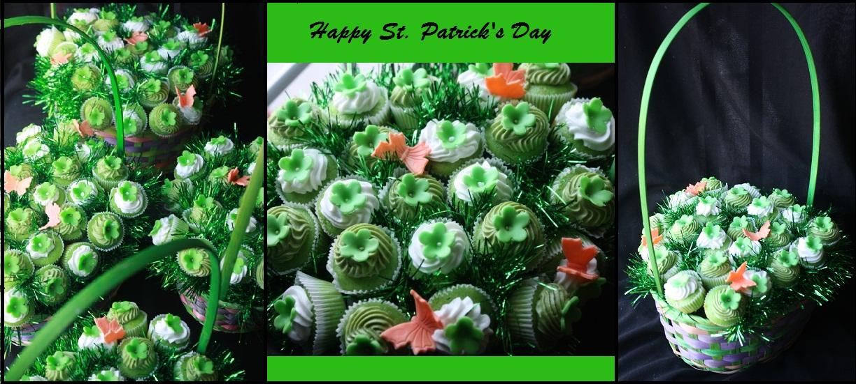 St. Patricks Day Cupcake Bouquet