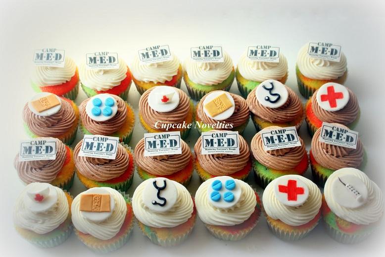 Custom cupcakes for a Hospital camp celebration!